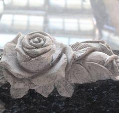 Rose carved in headstone