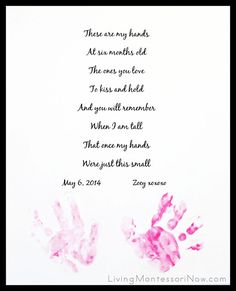 Handprint Keepsake for Mother's Day, Father's Day, or Grandparents Day {Free Editable Poem Printable}