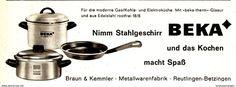 Original-Werbung/ Anzeige 1962 - BEKA STAHLGESCHIRR - Ca. 120 X 45 Mm - Werbung