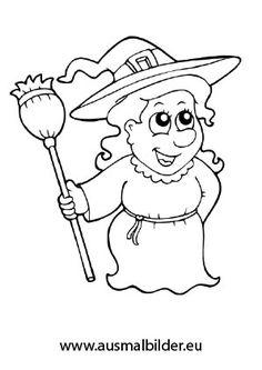 Ausmalbild Halloween Freundliche Hexe Ausmalbilder Ausmalbilder Zum Ausdrucken Kostenlos Niedliche Zeichnungen