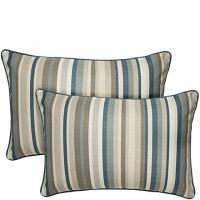 "16"" x 24"" Vintage Deep Blue Stripe angelo:HOME Pillow"