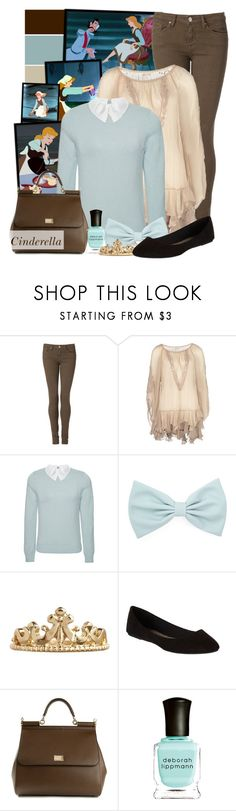 """Cinderella"" by totallytrue ❤ liked on Polyvore featuring Disney, Tommy Hilfiger, CREAM, Carven, Forever 21, ASOS, dELiA*s, Dolce&Gabbana, Deborah Lippmann and disney"