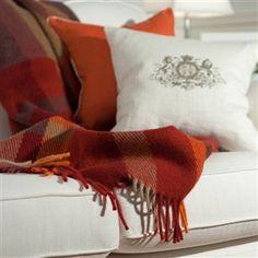 Luxury Patterned Wool Throw