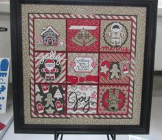 Some fabulous framed Stampin' Up! samples from my INKredible Impressions Fall Fest event.