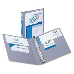 "3-Ring View Binder, 1"" Capacity, 11""x8-1/2"", Shadow Gray, Price: $10.16. pG 266 / B #AVE-05303"