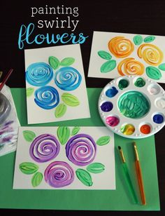 Painting Swirly Flowers | Make and Takes