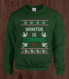 Winter is coming GoT Ugly Christmas sweater crew by cookietees