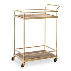 Bar Cart: Threshold Bar Cart - Gold by: Threshold @Target