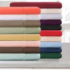 Impressions 300tc Egyptian Cotton Solid Sheet Set