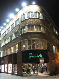 art deco Fenwicks of Newcastle......the original Fenwick store (Blackett Street entrance)