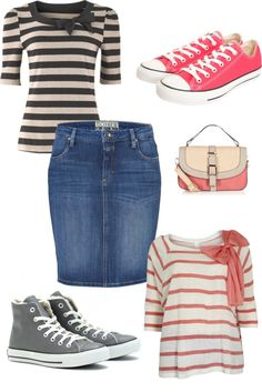 """""""Bow shirts!"""" by kristina-norrad ❤ liked on Polyvore~like the clothes just not the shoes with it"""