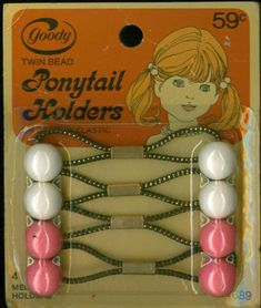 This is the only kind of pony tail holder my mom could use in our hair.  We had tons of different colors and then she tied a yarn ribbon around each tail!  Our yarn came from Pinkie's Ben Franklin in Ranchmart!