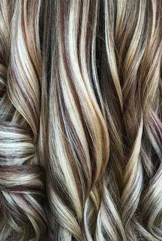 Dark Brown Hair With Blonde Highlights, Hair Highlights And Lowlights, Hair Color Highlights, Highlight And Lowlights, Blonde Foils, Platinum Blonde Highlights, Color Streaks, Blonde Brunette, Hair Color And Cut