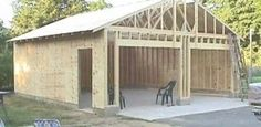 How to build your own 24 X 24 Garage and save money. Step by Step Build Instructions