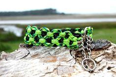 Custom Double KBK Bar Half Check Paracord Dog Collar, Custom Double KBK Bar Martingale Style Paracord Dog Collar, Choose Your Colors