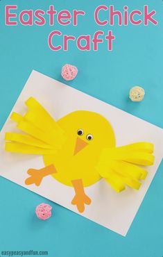 easypeasyandf… wp-content uploads 2018 02 Easter-Chick-Paper-Craft-for-Kids. Easter Arts And Crafts, Animal Crafts For Kids, Bunny Crafts, Paper Crafts For Kids, Crafts For Kids To Make, Spring Crafts, Holiday Crafts, Art For Kids, Easter Activities