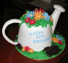 .Watering can cake.      t