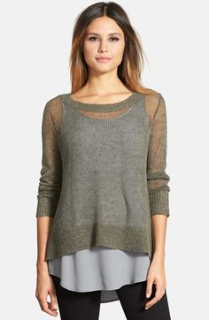 Eileen Fisher Linen & Cotton Ballet Neck Boxy Top (Regular & Petite) (Online Only) available at #Nordstrom