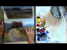"""""""The Red Tree"""" Part 5 - Beginning Step by Step Acrylic Country Road Landscape Painting Demo - YouTube"""
