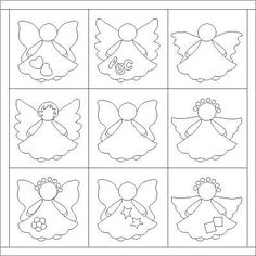 Coca-Lola patch: Angelitos para patchwork