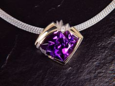 Pendant by Deborah Spencer featuring one of the very finest amethyst carvings I have ever cut. Proudly in the procession of my lovely wife Celeste.