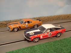 69-70 season Bud Moore T/A BOSS 302's, on my old two lane. Photo by Jeremy George.
