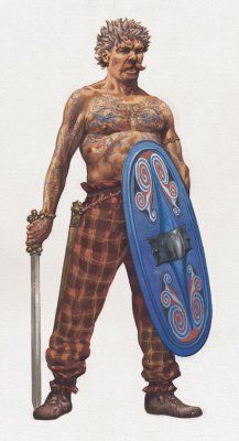 "Celtic warrior, 6th century BC- 2nd century BC Austria ""Classic"" Celt look. Hard to do SCA wise :)"