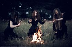 Witch house: three witches XXIV. by Agnes-z-Garbledville.deviantart.com on @DeviantArt