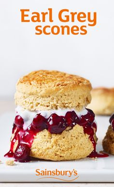 In case scones weren't posh enough, these are infused with earl grey and served with a blueberry and lemon compote.