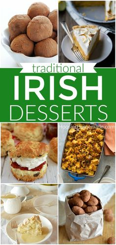 These St. Patrick's Day Desserts include 24 Irish desserts, Traditional Irish Desserts, Green Desserts and St. Patrick's Day Cupcakes too! Irish Appetizers, Irish Desserts, Green Desserts, Irish Recipes, Keto Recipes, Easter Dinner Recipes, Dessert Recipes, Christmas Recipes, Desserts