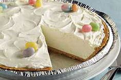 This is a fluffy 2-Step Easter Cheesecake recipe that is so easy to make. It is delicious! It is especially good with fresh cut up strawberries.