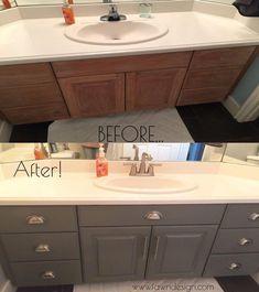Trendy Bathroom Vanity Update Diy How To Paint Ideas Home Renovation, Home Remodeling, Bathroom Remodeling, Architecture Renovation, Armoires Diy, Diy Design, Design Ideas, Interior Design, Cabin Design