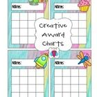 This is a cute set of mixed award charts that include space shuttles, helicopters, dragonflies and cup cakes.  A fun creative set for your creative...