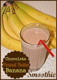 Chocolate, Peanut Butter and Banana Smoothie -