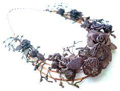 OLGAFACESROK Necklace: Winter Garden Necklace, 2014 3D printed polyamide powder, brass coated in copper 230 x 210x 30 cm