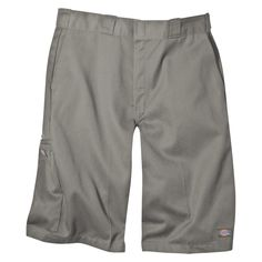 Dickies Men's Big & Tall Loose Fit Twill 13 Multi-Pocket Work Short- Silver Gray 50, Silver Grey