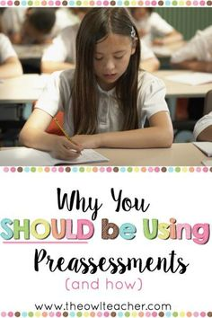 Using a preassessment in your instruction is one of the best ways to save time, close academic gaps, differentiate instruction, and deliver effective instruction. If you're not using preassessments in your classroom, then you should definitely consider do