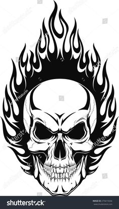 Vector Vector Illustration Of A Human Skull With Flames Royalty Free Cliparts, Vectors, And Stock Illustration. Image Illustration Of A Human Skull With Flames Royalty Free Cliparts, Vectors, And Stock Illustration.