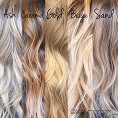 Different tones of blonde. Tips for clients when your a hair stylist. Sand?
