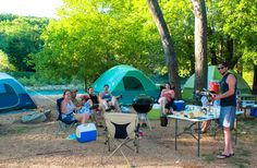 Late Night Camping Area, Riverfront Campsites