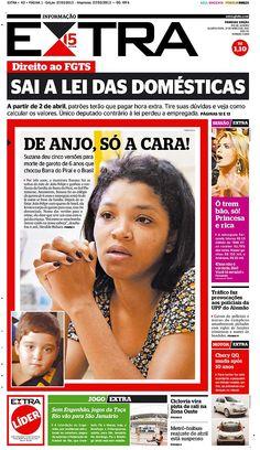 27-03-2013 - Capas do Jornal Extra - Primeira página do Jornal Extra do Rio - Extra Online