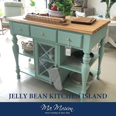 Kitchen Island Size, Kitchen Island Table, Kitchen Cart, Cocina Shabby Chic, Hawaii, Miscellaneous Goods, Stylish Kitchen, Global Market, Country Furniture