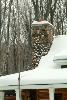 Sears Architects, Harbor Springs, cabin-style architecture, stone chimney
