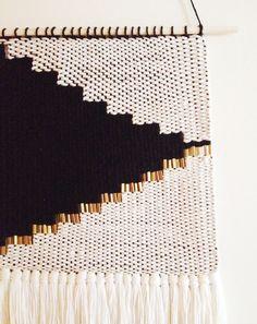 detail // onyx no2 weaving // modern tapestry by HAZEL & HUNTER