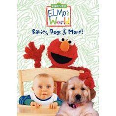 Elmo's World - Babies, Dogs & More (2010), (elmo, sesame street, elmo dvd, elmos world, dvd, educational, i own, kids dvd)
