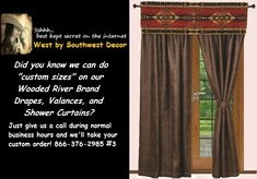 Looking for a 'custom size' drapery curtain set, window valance?, or shower curtain using any of the fabrics in our Wooded River collection?  It all begins here!  If you know the fabric you want to use, great!   Once you're sure, you can then just contact us with your measurements and requirements and we will get you a quote for your project directly from the factory.