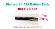 TODAY ONLY! Get this awesome deal on Diehard 24 AAA Battery Pack for ONLY $6.49 (was $12.99)! Free in-store pickup!  Click the link below to get all of the details ► http://www.thecouponingcouple.com/diehard-24-aaa-alkaline-battery-pack/ #Coupons #Couponing #CouponCommunity  Visit us at http://www.thecouponingcouple.com for more great posts!