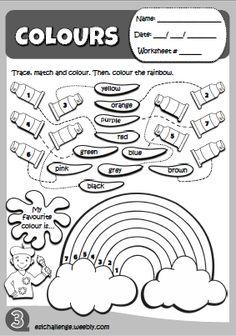 Hello Kids 1 - Colours worksheet