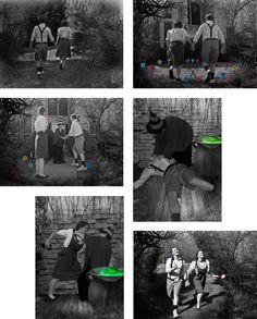 Caitlin Wright, Hansel & Gretel photo narrative, Introduction to Computer Based Art, studio section, Texas Woman's University, Denton, Texas, Spring 2013