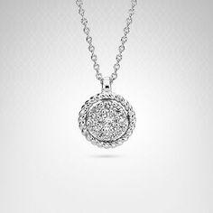Diamond Fashion #Pendant in 14K White Gold (1/5 carat t.w.)